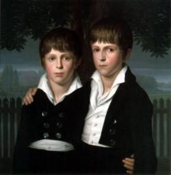 DOPPELBILDNIS Paul Und Max Von Mila