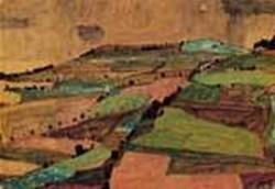 Field Landscape aka Kreuzberg near Krumau 1910