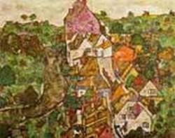 Landscape at Krumau 1916