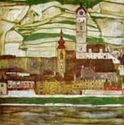 Stein on the Danube with Terraced Vineyards 1913