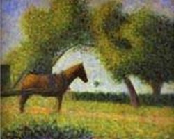 horse in a field 1882 XX the guggenheim museum new york usa