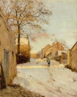A Village Street in Winter