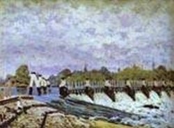 molesey weir morning 1874 XX national gallery of scotland edinburgh uk