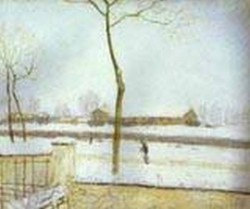 snow scene moret station 1888 XX national gallery of scotland edinburgh uk