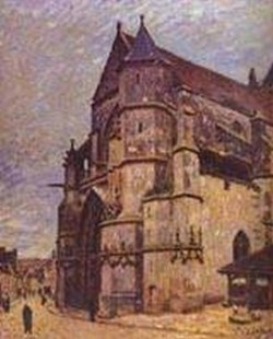 the church at moret winter 1893 94 XX museum of fine art bucharest romania