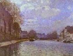 the saint martin canal in paris 1870 XX musee dorsay paris france
