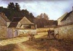 village street in marlotte 1866 XX gallery buffalo usa