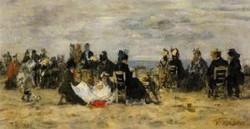 Beach Scene Trouville 1879