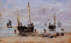 Berck Fishermen at Low Tide 1880 1885