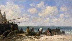 Etretat Fishermen on the Beach 1872 1873
