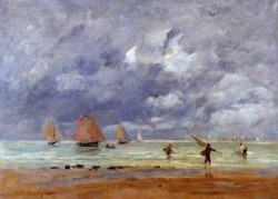 Fishermen and Sailboats near Trouville 1892
