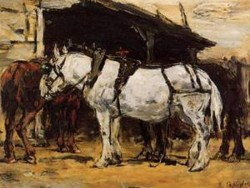 Harnessed Horses 1888 1895