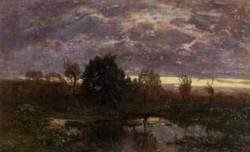 Pond at Sunset 1856 1860