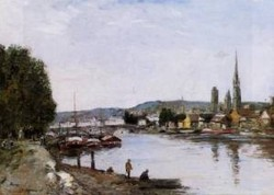 Rouen View from the Queens Way 1895