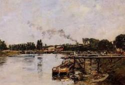 Saint Valery sur Somme the Abbeville Canal 1891