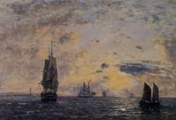 Seascape Fishing Boats 1888 1895