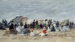 Trouville Beach Scene1 1888 1895