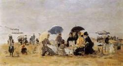 Trouville Beach Scene 1880
