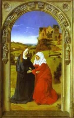The visitation 1445 xx museo del prado madrid spain