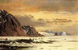 New big seascape with icebergs 1877