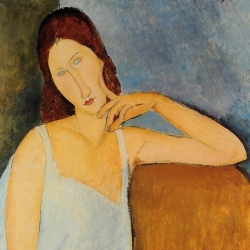 portrait of jeanne hebuterne 1898 1920 common law wife of amedeo modigliani 1918 XX the metropolitan museum of art new york usa