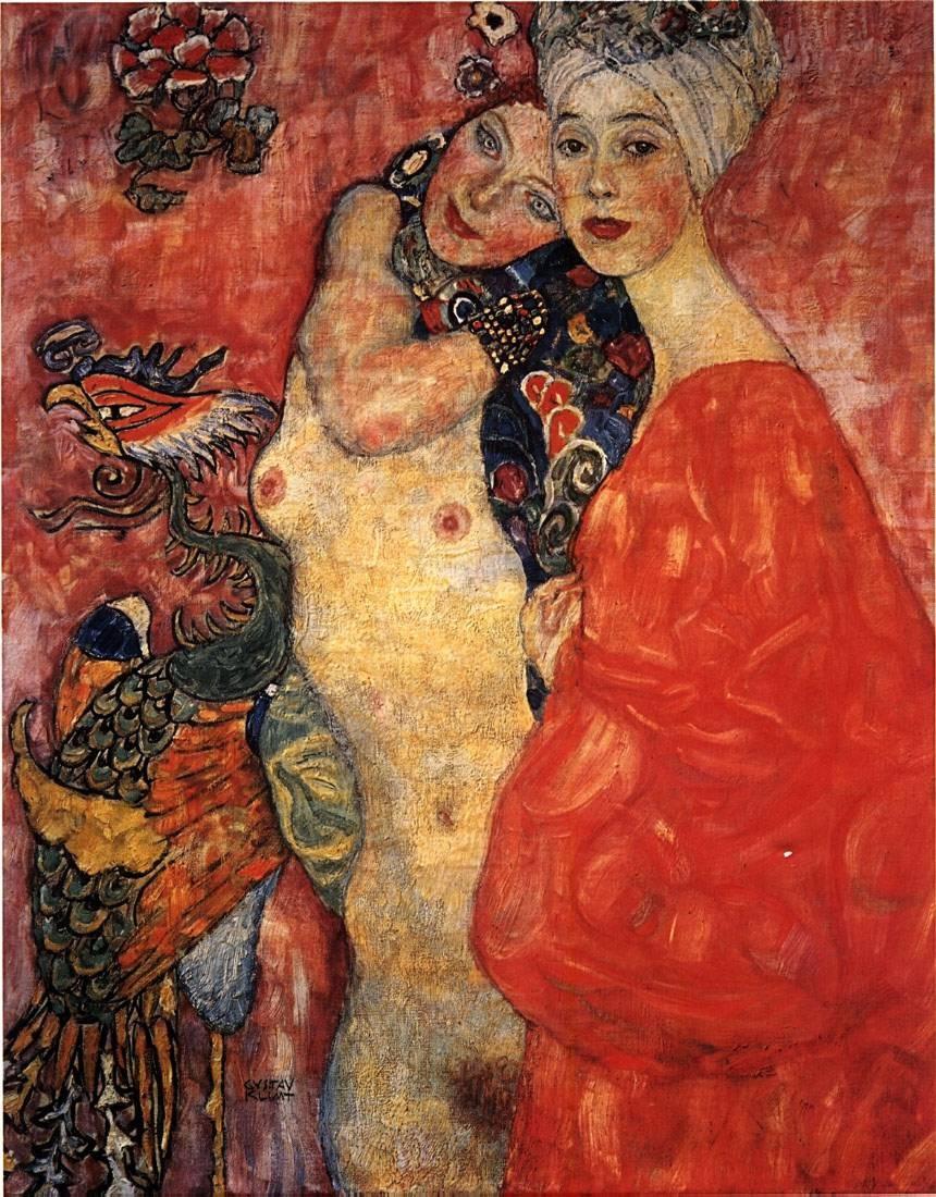 girlfriends 1916 1917 gustav klimt passion for paintings