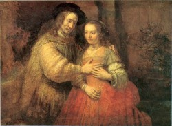 Rembrandt Portrait of Two Figures from the Old Testament known as The Jewish Bride (1665)