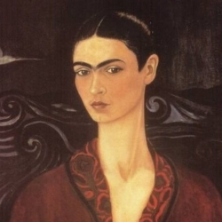 Self-portrait in a Velvet Dress, 1926, Frida Kahlo