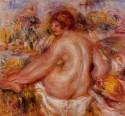 After Bathing, Seated Female Nude, Pierre Auguste Renoir
