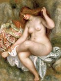 A Seated Bather, Pierre Auguste Renoir