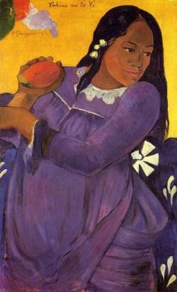 Vahine no te vi woman with a mango 1892 baltimore museu