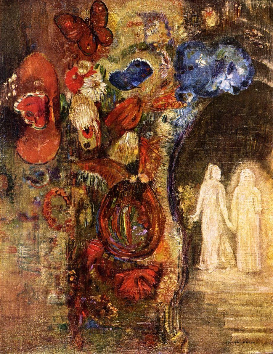 Apparition 1910 by odilon redon