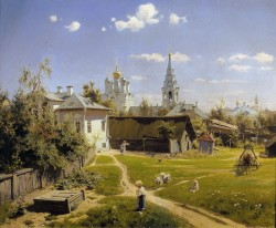 moscow courtyard 1878 XX moscow russia