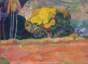 At the foot of the mountain, 1892, Paul Gauguin