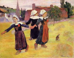 Breton girls dancing pont aven 1888 the national gallery