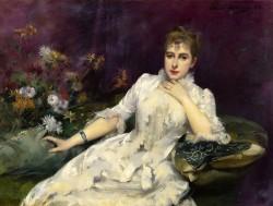 The Lady with the Flowers (La dame avec les fleurs), 1883 Louise Abbema
