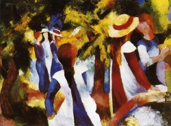 August Macke Girls Under Trees 1914