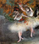 Two Dancers Entering the Stage, c. 1877-1878. Edgar Degas