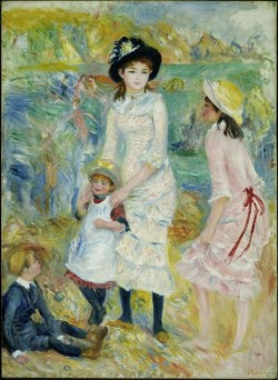 Children on the Seashore, Guernsey, detail 1883 Pierre Auguste Renoir