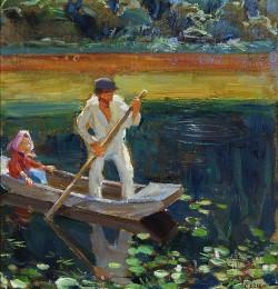 The Boat, Akseli Gallen-Kallela