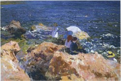 On the Rocks at Javea, 1905.