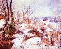 A cottage in the snow, Camille Pissarro