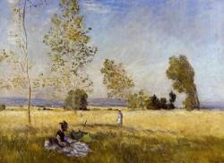Meadow at Bezons, Claude Monet 1874