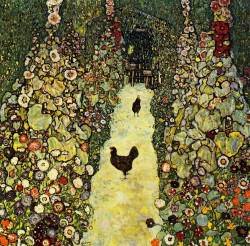 Garden Path with Chickens 1917 Gustav Klimt