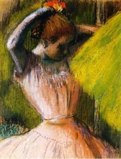 Dancer Arranging Her Hair, 1902 Edgar Degas