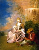The Anxious Lover, 1719 Jean-Antoine Watteau
