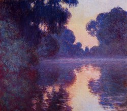 Arm of the Seine near Giverny at Sunrise, 1897 Claude Monet