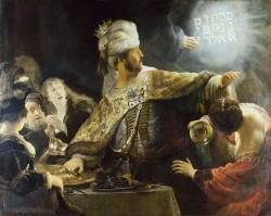 Belshazzars Feast 1635 Rembrandt van Rijn