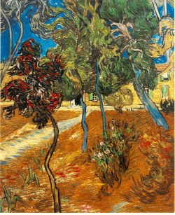 Trees in the garden of saint paul hospital 1889 xx private collection