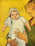Augustine Rouline and her baby, 1888 Vincent van Gogh